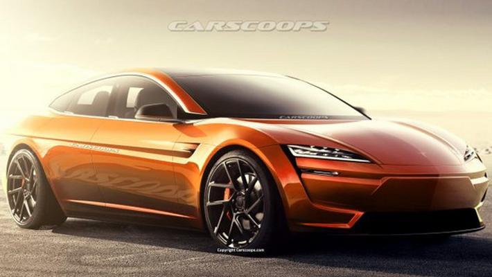 曝特斯拉全新Model S渲染图 造型前卫/2022年亮相