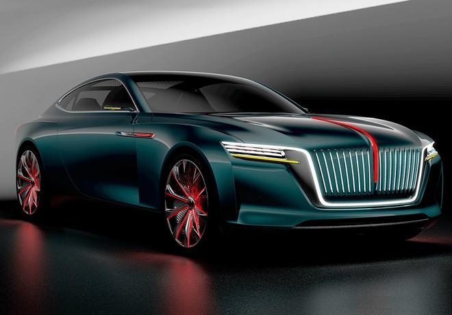 2018北京车展发布的红旗E·境GT概念车