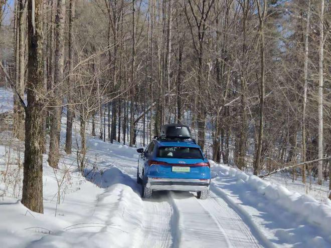 真·穿林海跨雪原 长白山试驾奥迪e-tron
