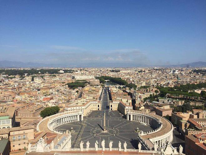 罗马市中心俯瞰图