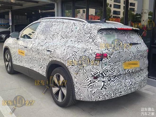 全新大众ID.6旗舰电动SUV谍照首曝 对手特斯拉Model X