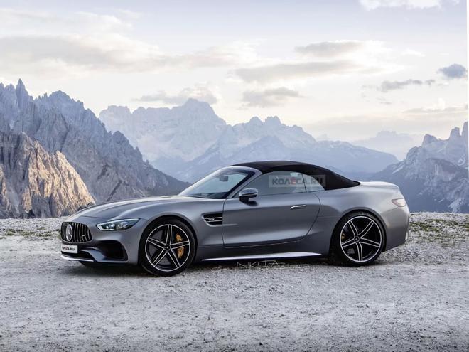 新一代奔驰SL最新效果图曝光 MSA平台打造/采用软顶设计