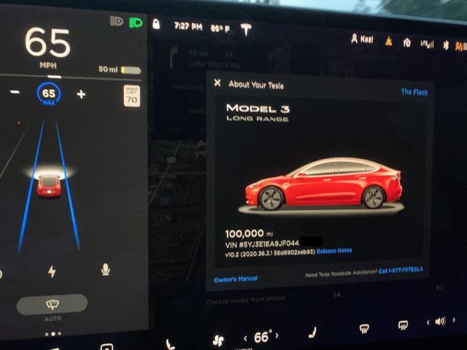 10万英里Model 3车主:维护成本低/电池衰减约5%