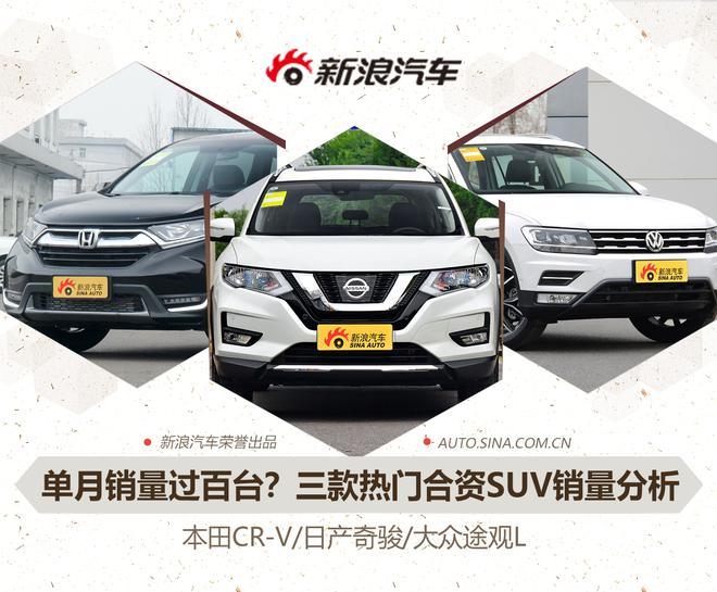 单月销量过百台!这三款合资SUV有何魔力?