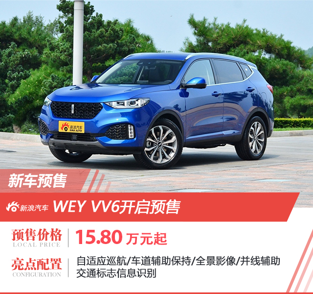 WEY VV6正式开启预售 价格15.80万元起