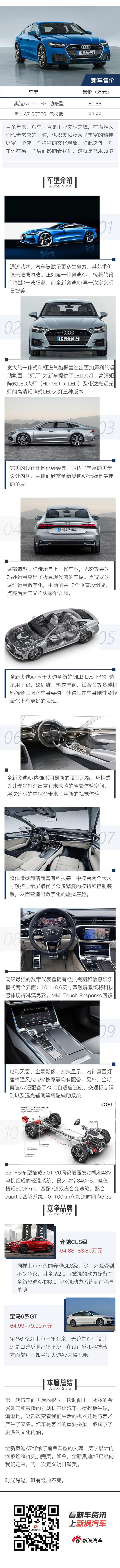 全新奥迪A7 明日智美 汽车与艺术品的融合