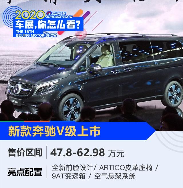 2020北京车展:无V不至的享受 全新奔驰V级售价47.8-62.98万元