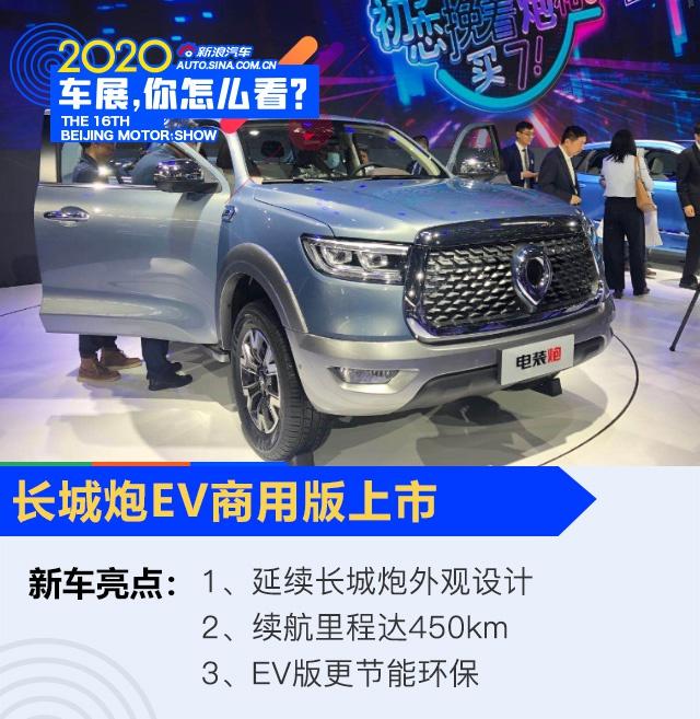 2020北京车展:长城炮皮卡EV商用版上市/乘用版开启预售