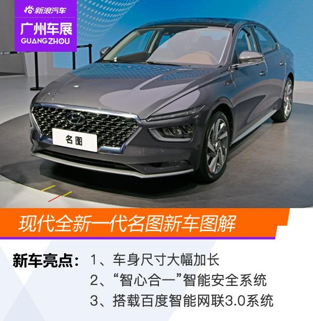 2020广州车展:尺寸提升/科技升级 现代全新一代名图新车图解