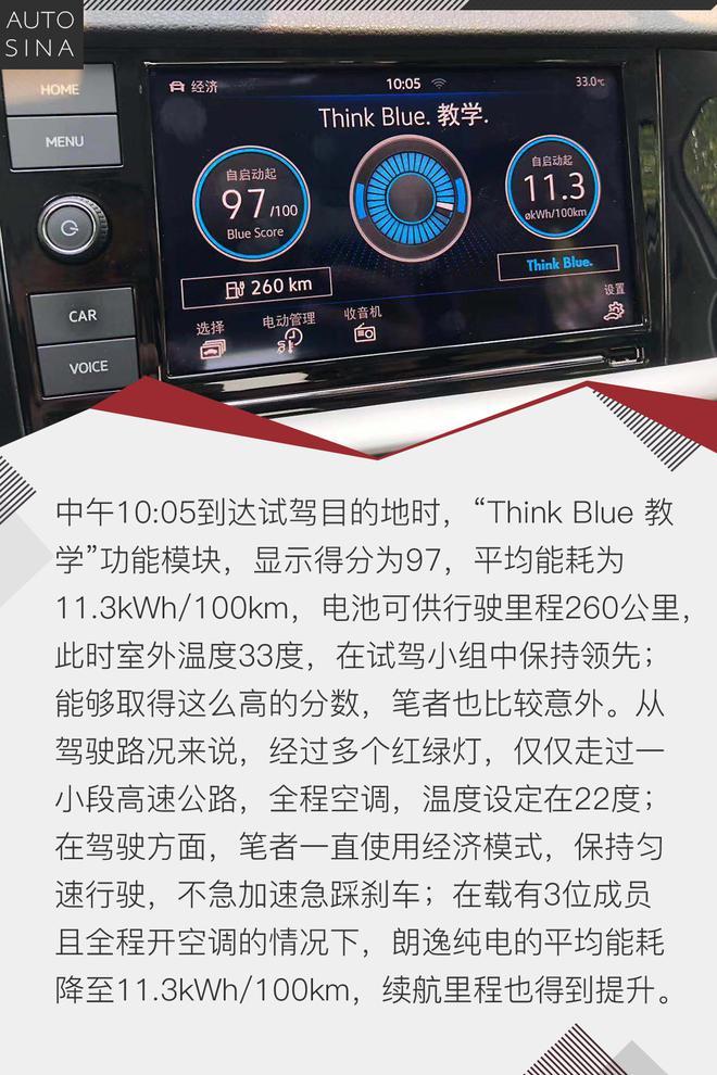 一辆可以开到99分的电动车 试驾朗逸纯电