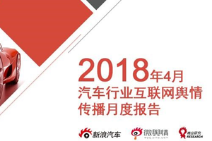 2018年4月汽车行业互联网舆情传播月度报告