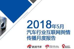 2018年5月汽车行业互联网舆情传播月度报告