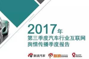 2017年第三季度汽车行业互联网舆情传播季度报告