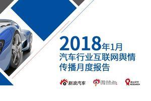 2018年1月汽车行业互联网舆情传播月度报告