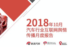 2018年10月汽车行业互联网舆情传播月度报告(下)