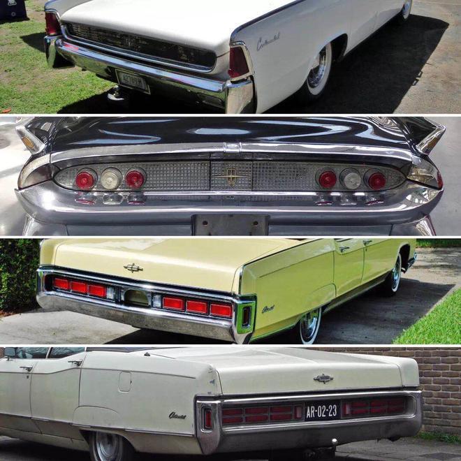 Continental车型从1958年逐步演变
