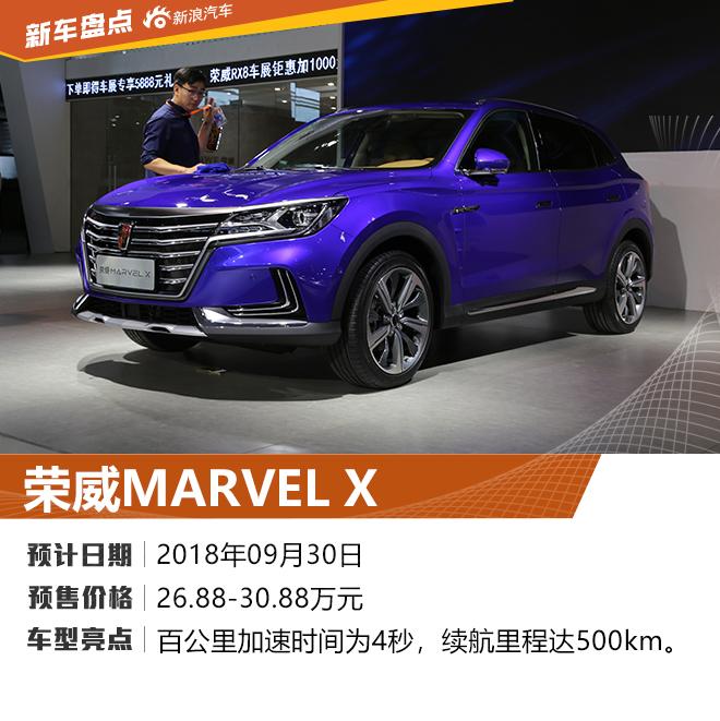 荣威MARVEL X领衔 2018浦东车展重磅新车盘点