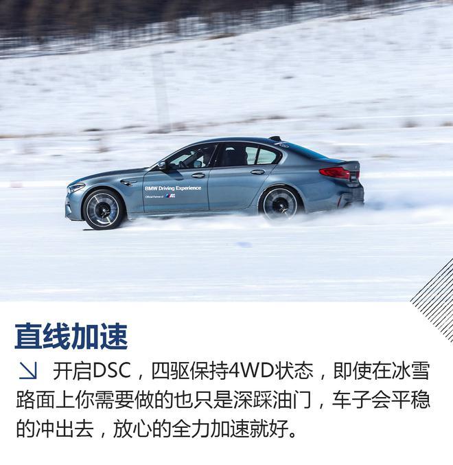四驱也能很好玩 冰雪试驾全新宝马M5