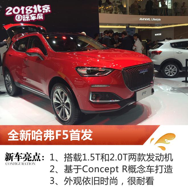 2018北京车展:哈弗全新F5车型正式亮相