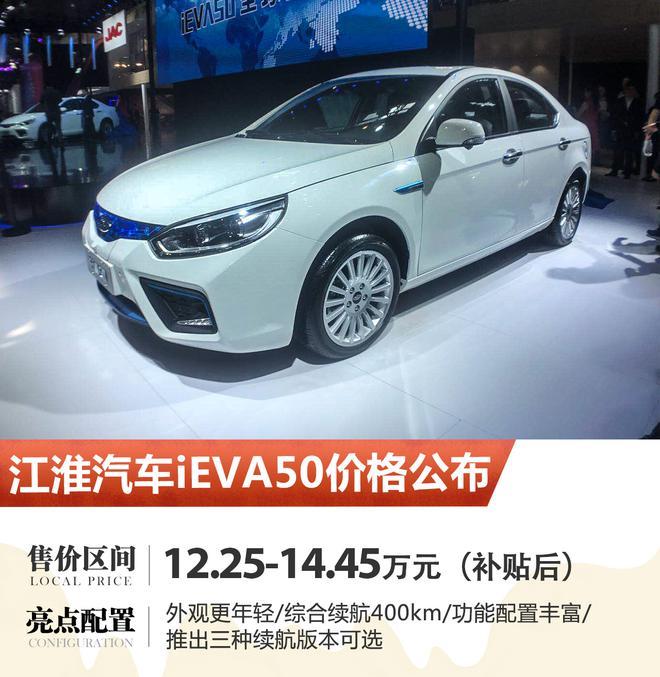 2018北京车展:江淮iEVA50售价公布
