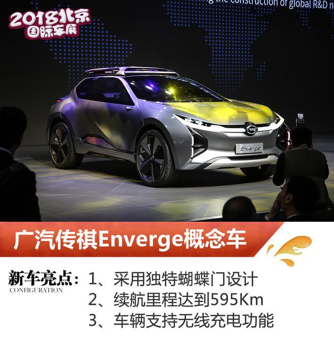 2018北京车展:广汽传祺Enverge亮相