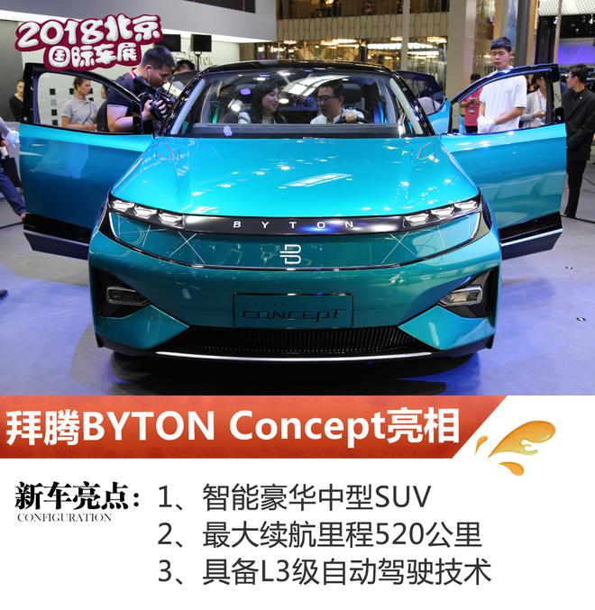 2018北京车展 拜腾BYTON Concept亮相