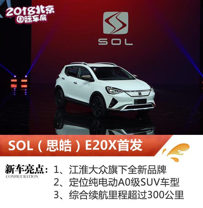 2018北京车展:SOL(思皓)E20X首发