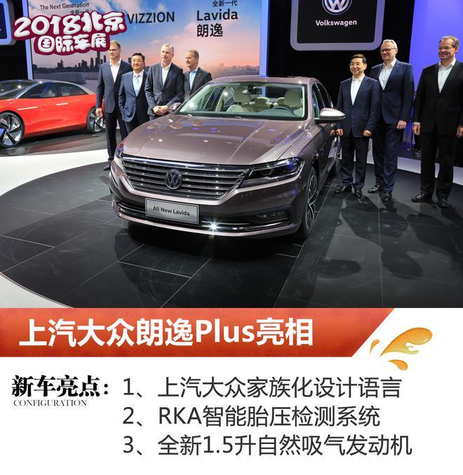 2018北京车展:上汽大众朗逸Plus亮相