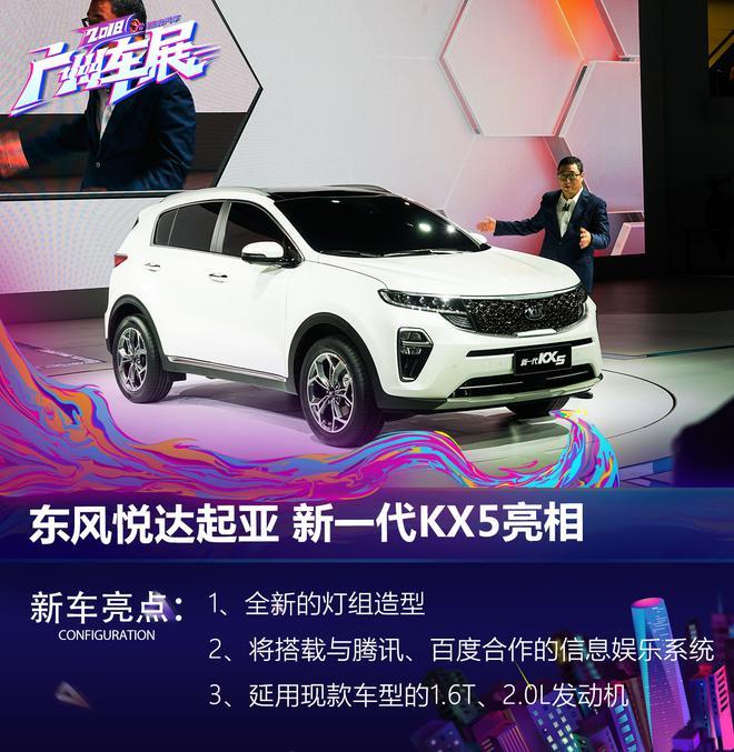 2018广州车展:东风悦达起亚新一代KX5亮相