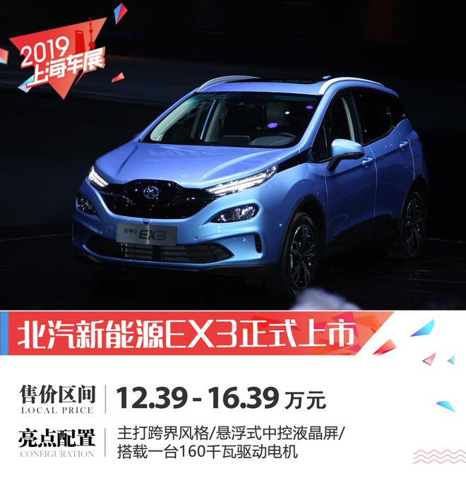 2019上海车展:北汽新能源EX3正式上市
