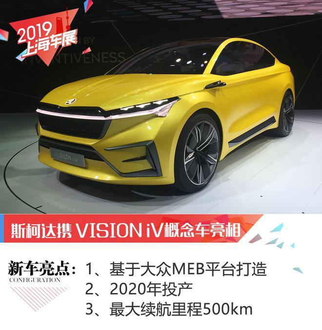 2019上海车展:斯柯达VISION iV概念车亮相