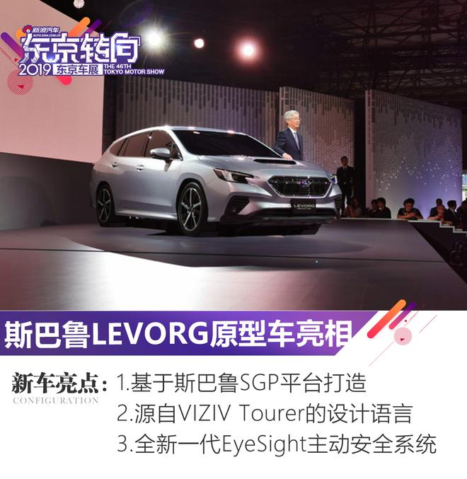 2019东京车展:斯巴鲁LEVORG原型车亮相