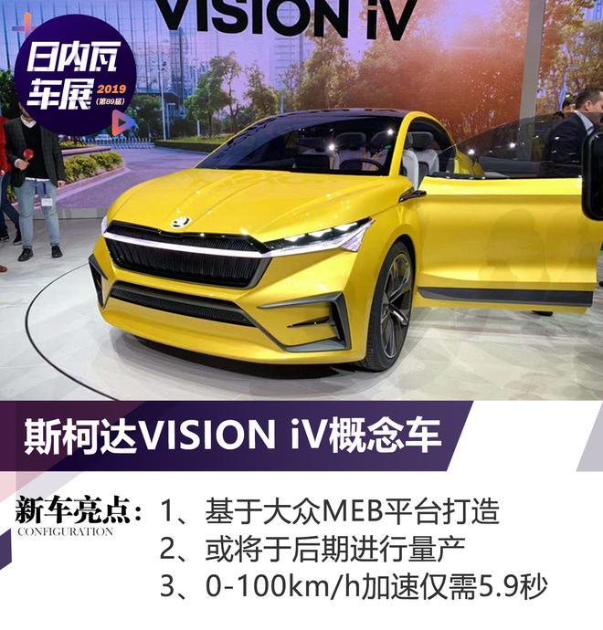 2019日内瓦车展:斯柯达VISION iV亮相