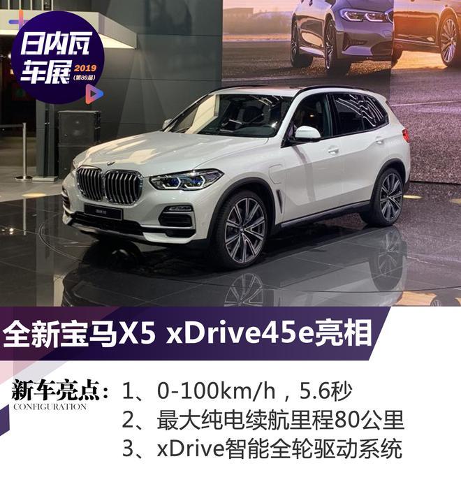 2019日内瓦车展:全新宝马X5 xDrive45e亮相
