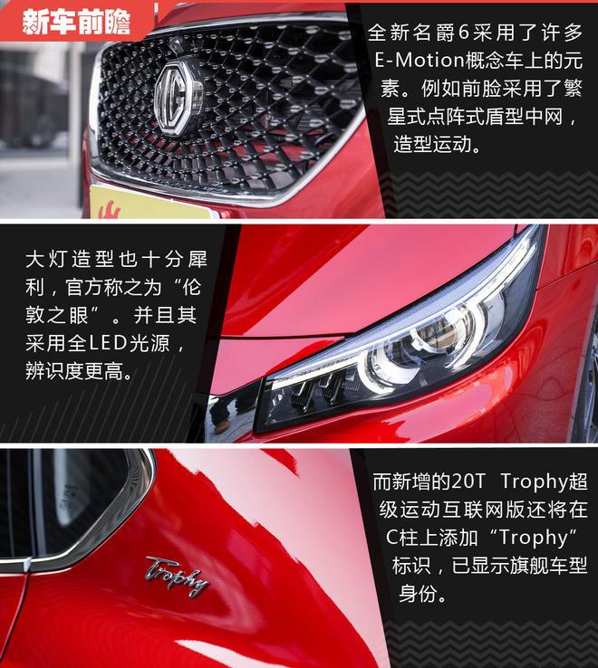 产品力再升级 上汽集团名爵6新车型前瞻