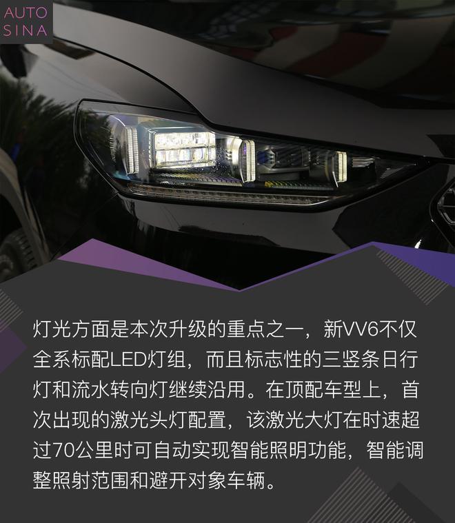 激光大灯都有了 静态体验WEY新VV6