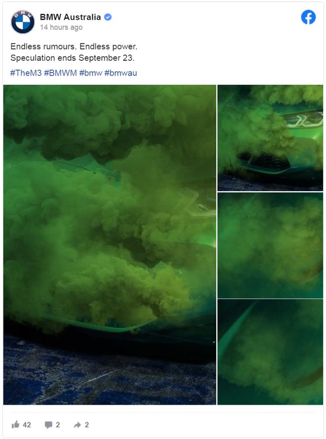 全新一代宝马M3最新预告图曝光 9月23日全球首发