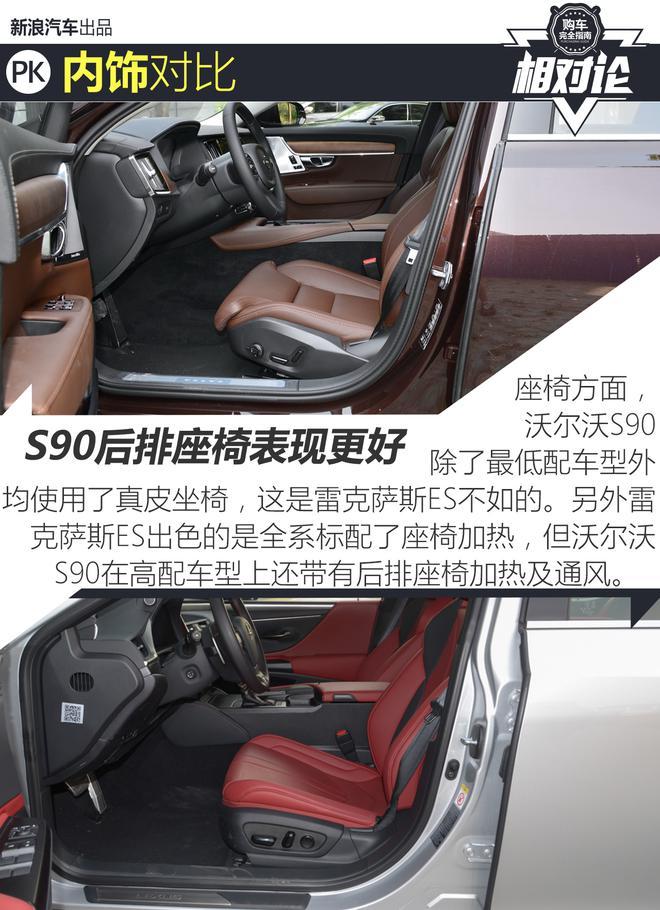 中大型车专场 沃尔沃S90对比雷克萨斯ES