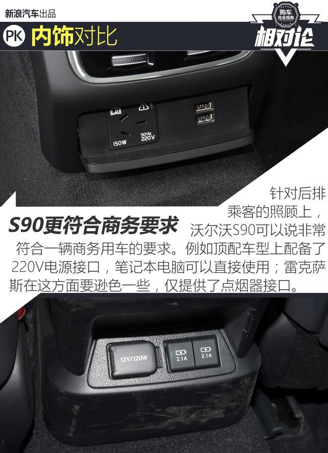 报告老板!沃尔沃S90与雷克萨斯ES的对比报告
