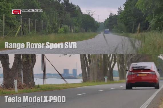 揽胜SVR 对比MODEL X P90D