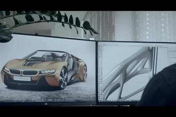 新宝马i8-roadster 的3D打印