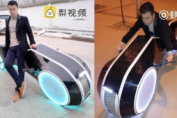 小伙花8千元打造炫酷电动车 最高时速30公里