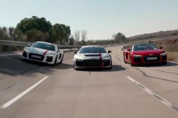 三款不同风格的奥迪R8集结!