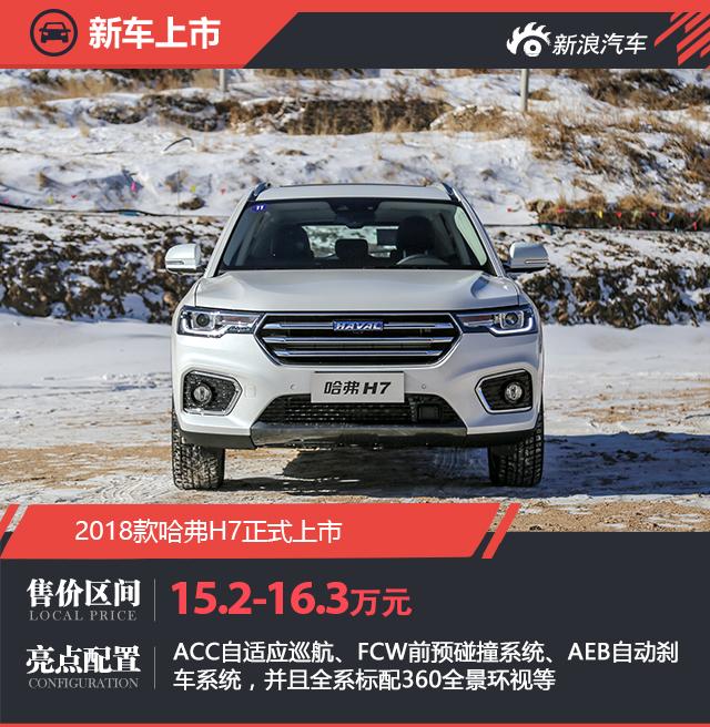 2018款哈弗H7正式上市 售价15.2万元起