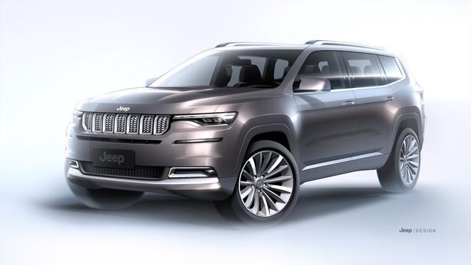 Jeep大指挥官效果图发布 第二季度上市