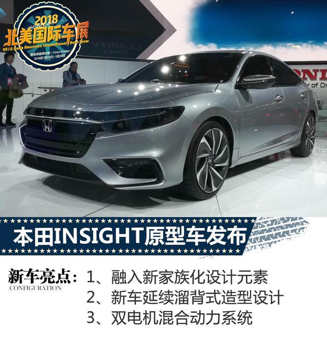 2018北美车展:本田INSIGHT原型车发布
