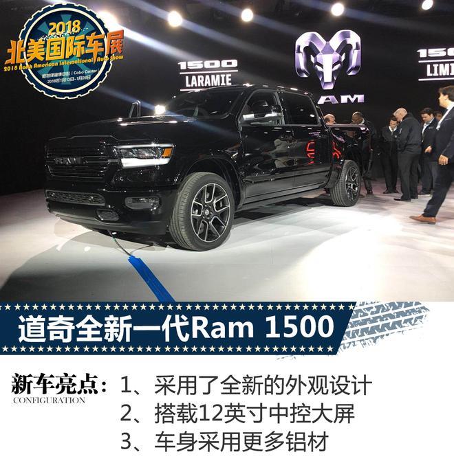 2018北美车展:道奇全新Ram 1500亮相