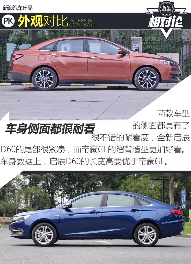 紧凑级车相对论 全新启辰D60与帝豪GL