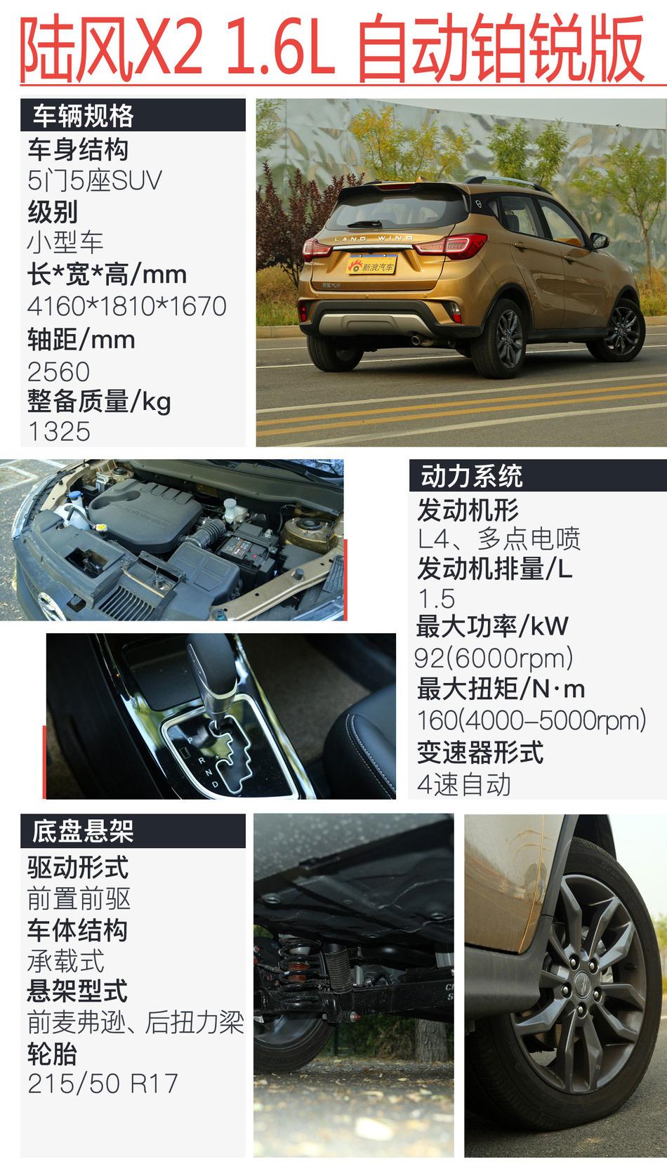 陆风X21.6L自动铂锐版