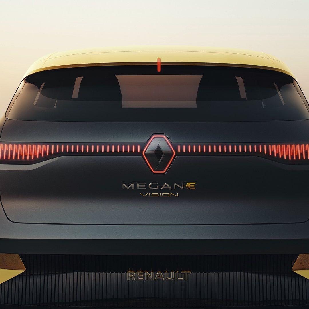 雷诺梅甘娜E-vision,纯电动紧凑级掀背车